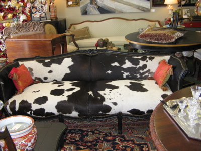 french cowhide sofa