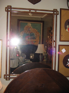 carved mirror--