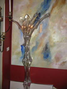 french crystal floor lamp