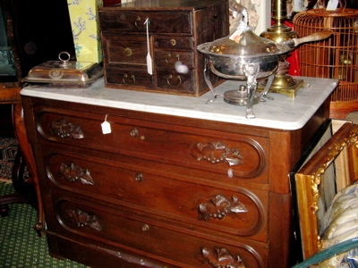 Eastlake antique chest marble top