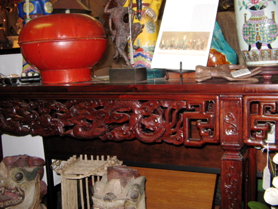 carved altar table