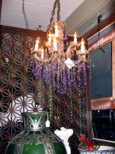 lavender drop crystal chandelier