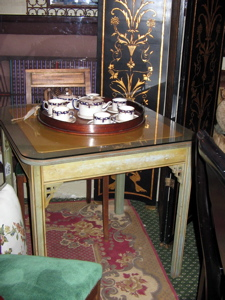 chippendale style game table